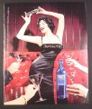Magazine Ad for Skyy Vodka, #59 Booth 9, Sexy Woman Shaking her Martini Shaker, 2001