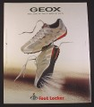 Magazine Ad for Geox The Shoe That Breathes, Foot Locker, Sneakers, 2008, 10 by 12