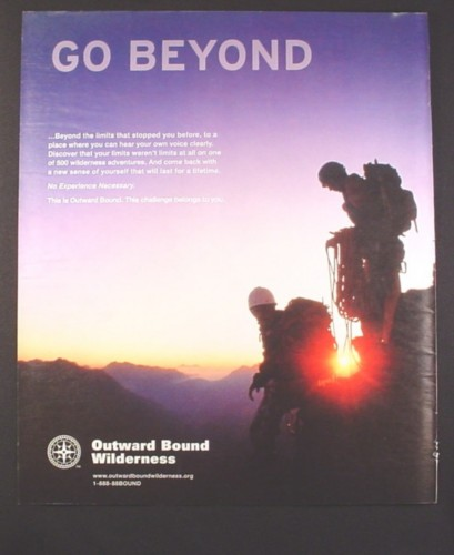 Magazine Ad for Outward Bound Wilderness, Go Beyond, 2008, 10 by 12