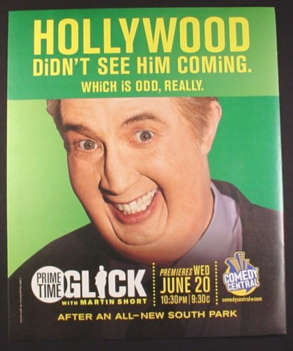 Magazine Ad for Glick with Martin Short, Comedy Central TV Show, 2001, 10 by 12