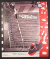 Magazine Ad for DC Shoe The Exacta, Rob Dyrdek, Frontside 50-50, 20 Stair Handrail, 2001