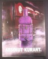 Magazine Ad for Absolut Kurant, Absolut Vodka, Suitcases, Larger Size Ad, 2003, 10 by 13 1/8