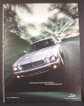 Magazine Ad for Jaguar 370 Horsepower Car, Silver, Front View, Larger Size Ad, 2001, 10 by 13 1/8