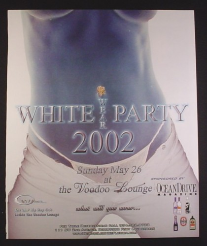 Magazine Ad for White Wear Party 2002, Voodoo Lounge, 2002, 10 by 12