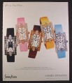 Magazine Ad for Harry Winston Ladies Watches, 5 Models, 2002, 10 by 12