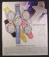 Magazine Ad for Ladyhawke Ladies Watches, 5 Models, 2002, 10 by 12