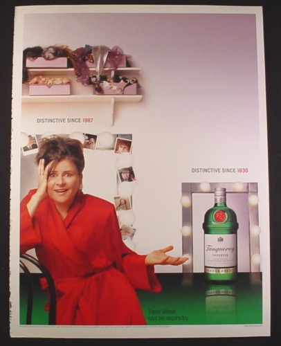 Magazine Ad for Tanqueray Dry Gin, Tracey Ulman, Celebrity, 2003, 10 by 13 1/8