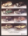 Magazine Ad for Jaguar Cars, 8 Models from 1935 to 1975, 1977, 9 by 12 1/2