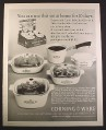 Magazine Ad for Corning Ware Young Moderns Set, 1967, 10 1/2 by 13 1/4