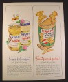 Magazine Ad for Kraft Pure Honey & Peanut Butter, Bears & Bees, 1965, 10 1/2 by 13 1/4