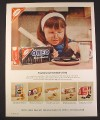Magazine Ad for Oreo Creme Sandwich Cookies, Teachers Love, 1965, 10 1/2 by 13 1/4
