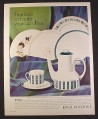 Magazine Ad for Royal Doulton 5 Piece Place Setting, 4 Patterns, 1966, 10 1/2 by 13 1/4