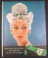 Magazine Ad for Prell Liquid Shampoo, Woman with Emeralds in Shampoo Hair, 1960