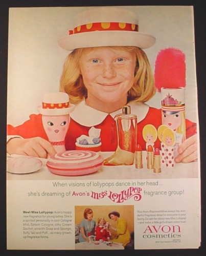 Magazine Ad for Avon Miss Lollypop Fragrance Group For Young Ladies, 1967, 10 1/2 by 13 1/4