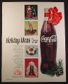 Magazine Ad for Holiday Ideas in Cartons of Coke, Coca-Cola, Large Bottle, 1965, 10 1/2 by 13 1/4