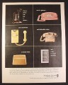 Magazine Ad for Northern Electric Telephones, Dial, Pink Yellow, 1963, 10 1/2 by 13 1/4