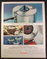 Magazine Ad for Supreme Hallmark Aluminum Cookware, Change The Trim, 1964