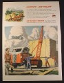 Magazine Ad for WWII Era Autocar Trucks, Hauling Hellcats & Wildcats, 1944, 10 1/2 by 13 3/4