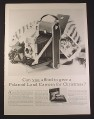 Magazine Ad for Polaroid Land Camera, Bellows Style, 1954, 10 1/2 by 13 7/8