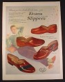 Magazine Ad for Evans Hand Turned Slippers, 4 Styles, 1954, 10 1/2 by 13 7/8