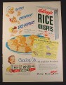 Magazine Ad for Kellogg's Rice Krispies, Marshmallow Squares Recipe, Variety Box, 1949