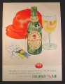 Magazine Ad for Carling's Red Cap Ale, Green Bottle, Game Tickets, 1949, 10 1/2 by 13 7/8