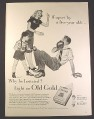 Magazine Ad for Old Gold Cigarettes, Boy Punches Man, Boxing, 1946, 10 1/2 by 13 7/8