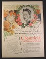 Magazine Ad for WWII Era, Chesterfield Cigarettes, United Services Canteen, Nassau, 1943