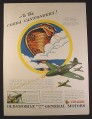 Magazine Ad for WWII Era, Cobra Cannoneers Insignia, 93rd Fighter Squadron, 1943