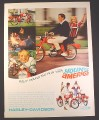 Magazine Ad for Harley Davidson Rally 300 Motorcycle, Young America, 1966, 10 1/2 by 13 5/8