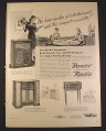 Magazine Ad for Bendix Consolette Radio & Phonograph, Invisible Radio, 1946, 10 1/2 by 14