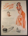 Magazine Ad for Mennen Brushless Shave, Pin-Up Girl, I Like Smooth Men, 1946, 10 1/2 by 14