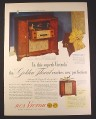 Magazine Ad for RCA Victor Crestwood Victrola Record Player & Radio Console 1946 10 1/2 by 14