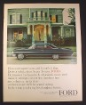 Magazine Ad for Ford Galaxie 500/XL 2-Door Hardtop Car, Picking Up His Date, 1963