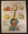 Magazine Ad for Blue Bonnet Margarine, Blonde in Mod Glasses, 1968, 10 1/4 by 13 1/4