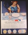 Magazine Ad for Fostoria Melmac Dinnerware, 5 Patterns, 1958, 9 3/4 by 12 7/8