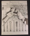 Magazine Ad for Reed & Barton Sterling Silverware 8 Patterns Hand Puppets, 1958 9 3/4 by 12 7/8