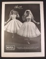 Magazine Ad for May Co, Maurer Originals, Wedding Gowns, Dresses, 1958, 9 3/4 by 12 7/8