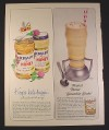 Magazine Ad for Kraft Peanut Butter & Honey, Smoothie Shake, 1966, 10 1/2 by 13 1/4