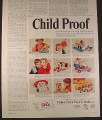 Magazine Ad for Fisher Price Toys, 9 Toys, Music Box Iron, Dump Truckers, 1966
