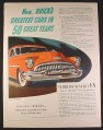Magazine Ad for Golden Anniversary Buick Custom Car World's Newest V8, 1953 10 1/2 by 13 3/4