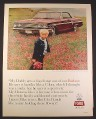 Magazine Ad for Ford Fairlane 500 Sports Coupe Car, Child & Wildflowers 1964 10 1/2 by 13 3/8