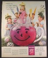 Magazine Ad for Kool-Aid Easter Party, Purple Pitcher, Kool Aid, 1964, 10 1/4 by 13 1/4