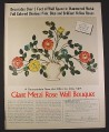 Magazine Ad for Giant Hammered Metal Rose Wall Bouquet, Greenland Studios, 1971