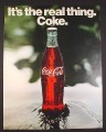Magazine Ad for Coke Coca-Cola, Single Bottle in a Stream, 1971, 10 1/4 by 13 1/4