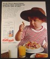 Magazine Ad for Kellogg's Frosted Flakes Cereal, Bernie Brown Little boy, 1971 10 1/4 by 13 1/4