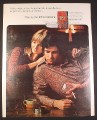 Magazine Ad for L&M Cigarettes, Man in Paisley Shirt Forget Being Uptight 1971 10 1/4 by 13 1/4
