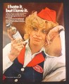 Magazine Ad for Listerine Antiseptic, Woman in Waitress Uniform, Polly, 1971, 10 1/4 by 13 1/4