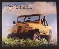 Magazine Ad for Jeep Wrangler Islander, Yellow Color, Top Banana, 1989, 10 by 12
