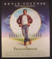 Magazine Ad for Field Of Dreams Movie, Kevin Costner, 1989, 10 by 12